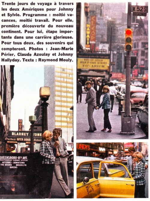 Johnny Hallyday & Sylvie Vartan in New York