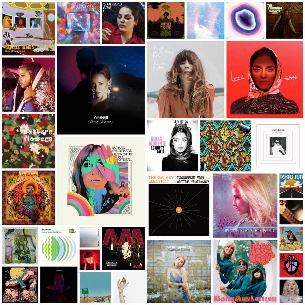 Collage of artwork from releases featured in my 'Best of 2020' list