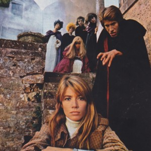 Françoise Hardy with Jacques Dutronc dressed as a vampire